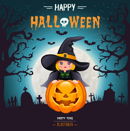 Halloween Party background Иллюстрация