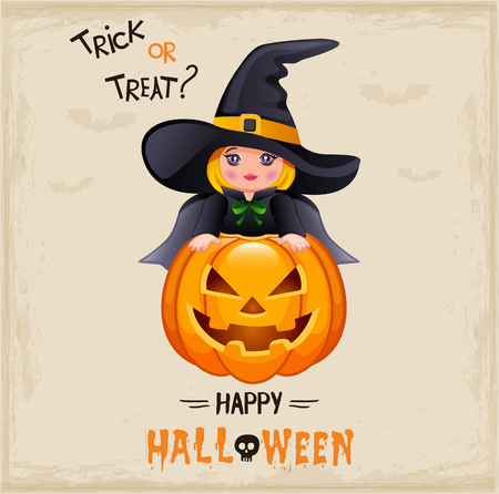 Happy Halloween poster Фото со стока - 87615604