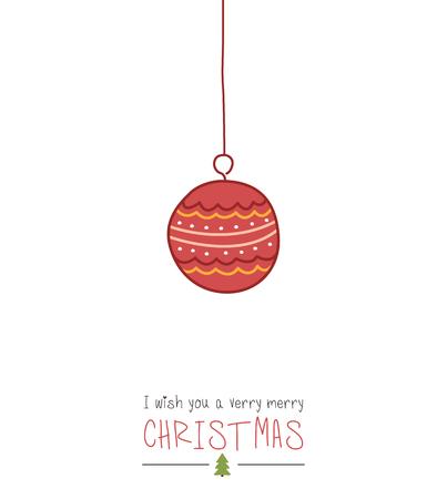 クリスマスグリーティングカード  イラスト・ベクター素材