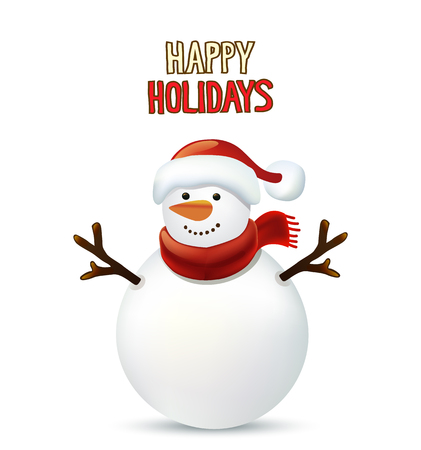 クリスマス雪だるまグリーティング カード