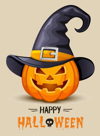 Halloween funny pumpkin Vectores