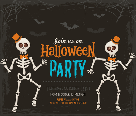 Halloween party invitation card Иллюстрация