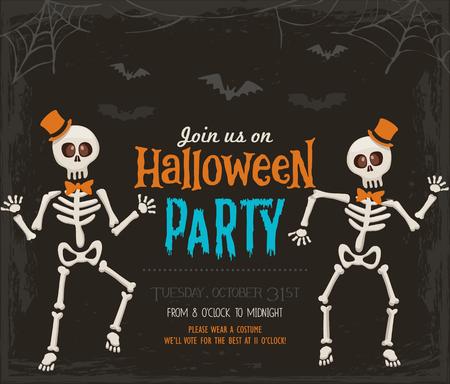 Halloween party invitation card Vectores