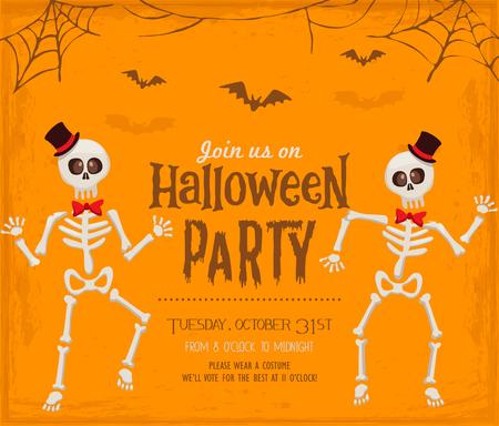Halloween party invitation card Stock Illustratie