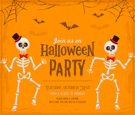 Halloween party invitation card Иллюстрация