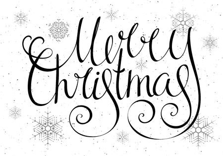 Gold Textured Handwritten Calligraphic Inscription Merry Christmas ...