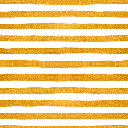 retro wallpaper: Gold textured seamless pattern of golden stripes on a white background. Design element for banner, card, cutaway, invitation, postcard, booklet, flyer. Vector illustration.