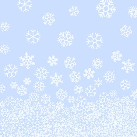 starfall: Abstract pattern of falling snowflakes on blue background. Elegant pattern for Christmas or New year background, festive banner, card, invitation, postcard. Vector illustration. Illustration