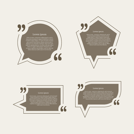 chat bubbles: Quote mark speech bubbles set.  Illustration