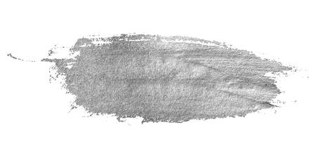 Zilveren vlek op een witte achtergrond. Abstract ontwerp element voor inschrijving, banier, kaart, uitnodiging, briefkaart en poster. Vector illustratie.