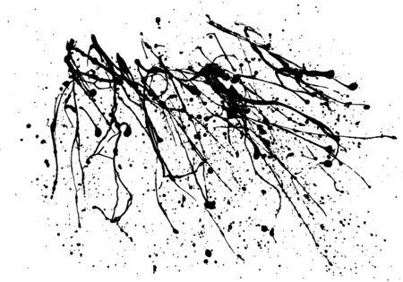 Ink spot blotch on white background. Abstract design element for banner, card, invitation, postcard, poster. Vector illustration.
