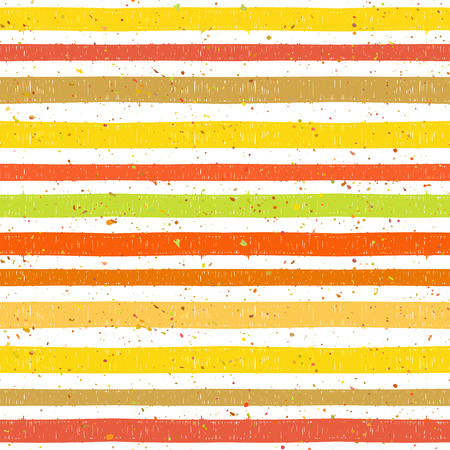 motley: Hand drawn striped colorful seamless pattern with motley splatter. Grunge style pattern for background, textile, paper packaging and other design. Vector illustration. Illustration