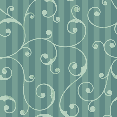 Abstract seamless vintage pattern with vertical stripes and floral ornament. It can be used for wrapping paper, scrapbooking, wallpapers, textiles, wedding invitations. Vector illustration. Illustration