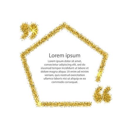 paillette: Gold quotation mark speech bubble.