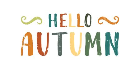 Hello autumn inscription.