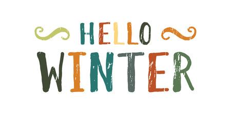 Hello winter inscription.