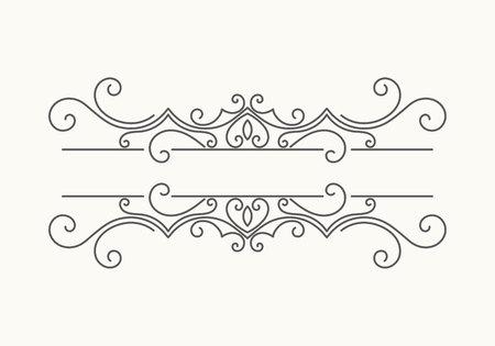 Hand getekende decoratieve rand Stockfoto - 85696818