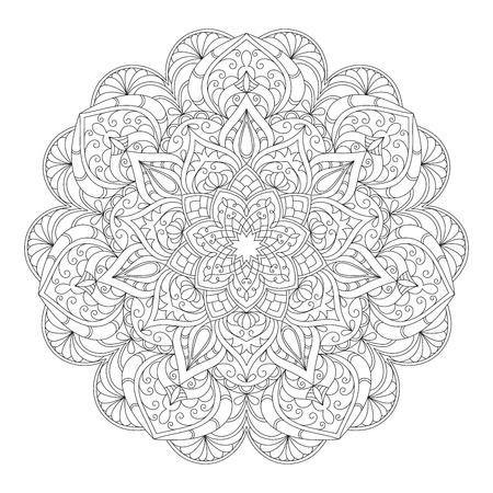 Hand drawn decorative mandala  イラスト・ベクター素材