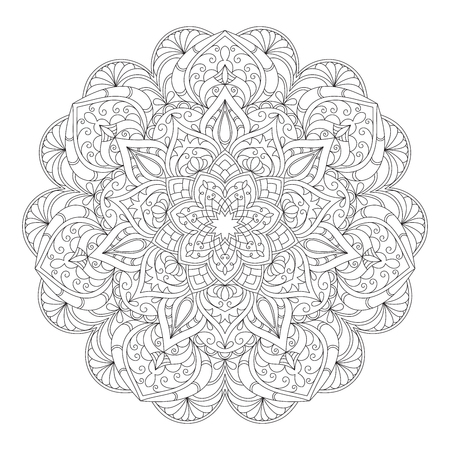 Hand drawn decorative mandala Vettoriali