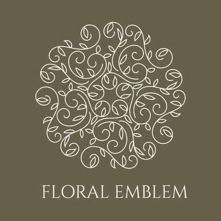 Elegant hand drawn flourish design template.