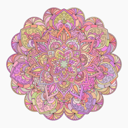 Hand drawn decorative mandala Illustration