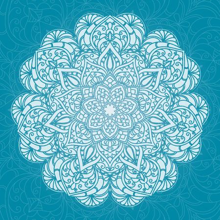Hand drawn decorative mandala Stock Vector - 95889295