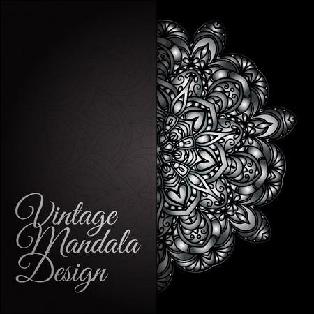 Hand drawn decorative mandala images illustration Illustration