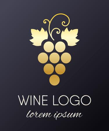 Een druiven logo-ontwerpelement geïsoleerd op effen achtergrond. Logo