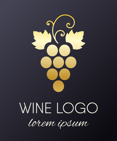 A Grapes logo design element isolated on plain background.