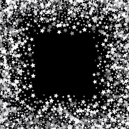 Frame or border of stars Vettoriali