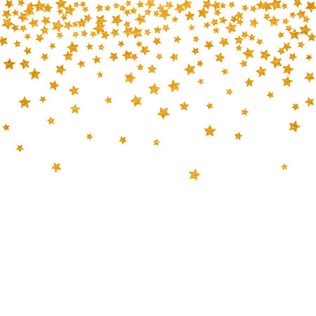 Abstract pattern of random falling stars isolated on plain background.