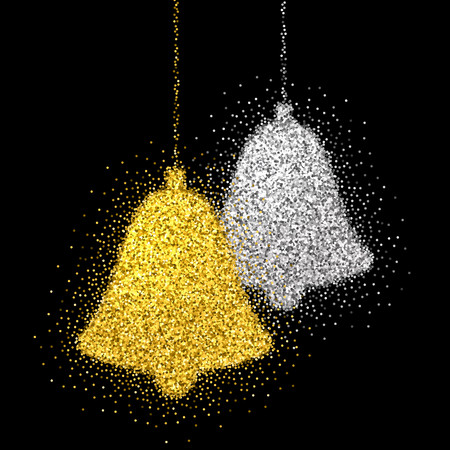 Christmas decoration with sparkling light effect. Illustration