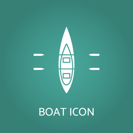 Boat icon. Vector illustration.