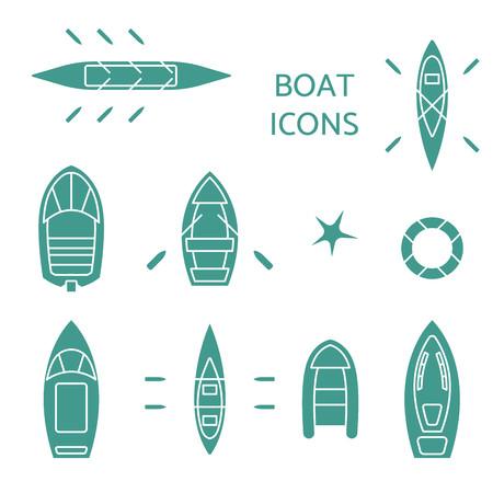 Boat icons set.