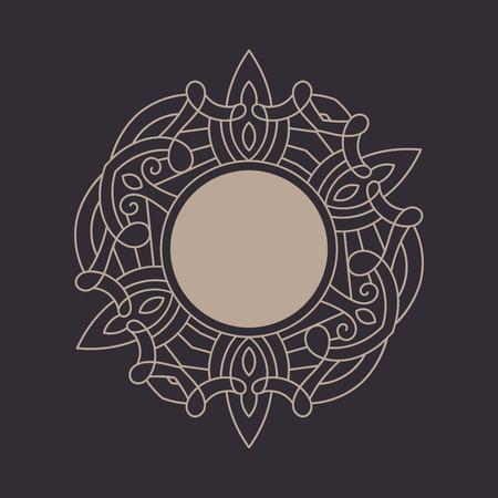 Elegant floral monogram design template