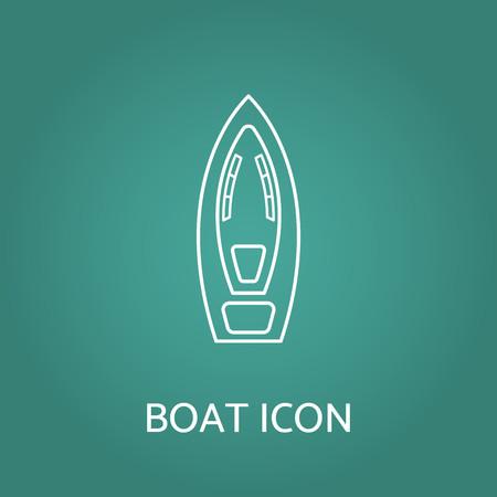 Boat icon. Vector illustration.