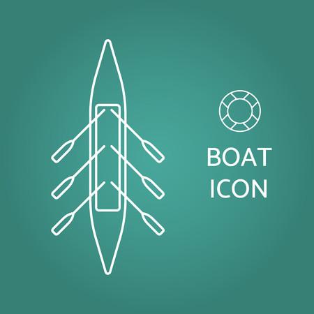 Icône de bateau. Illustration vectorielle.