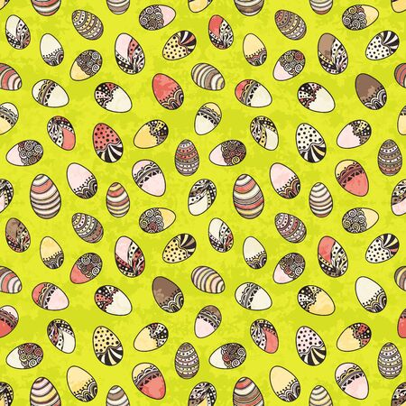 Seamless pattern with easter eggs Ilustrace