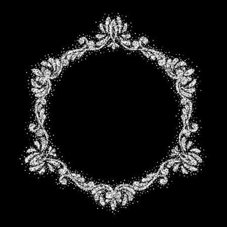 Retro shiny frame or border. Vector illustration.