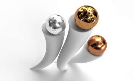 premios: Tres bolas de premios en zócalo