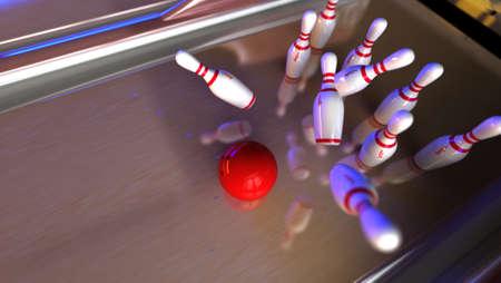 hit: Good hit on bowling lane