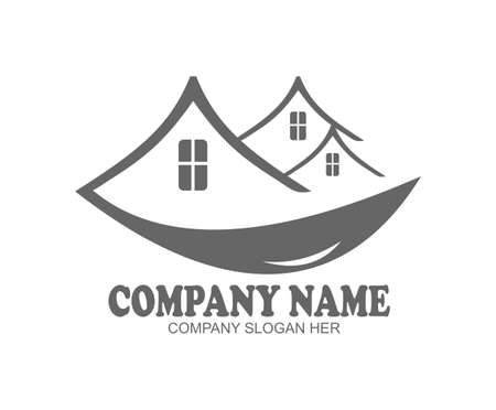 Simple and unique logo for real estate company