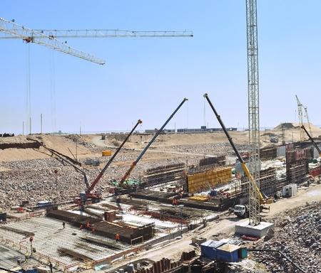 Big build. Tunnel construction. Foto de archivo