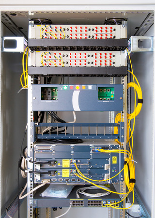 Industrial control system in modern factory photo