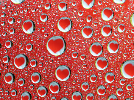 reflection of the heart in Water Drops photo