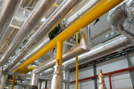 New pipeline on ceiling In boiler Centre