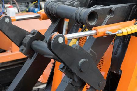 hydraulic: Detail of hydraulic bulldozer piston excavator arm