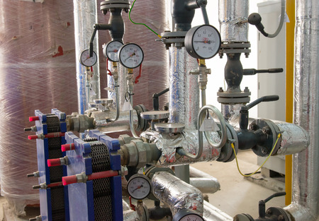 water power: Place in a large industrial boiler room. Parts replaced during repair work
