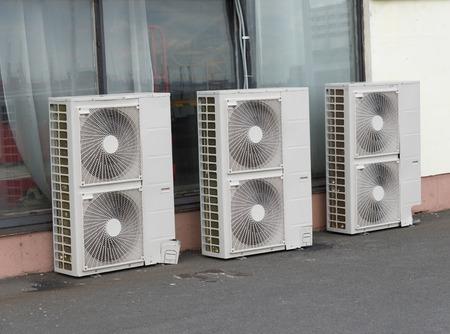 caliente: unidades exteriores del sistema de aire acondicionado est�n listas para instalar
