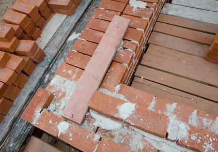 paredes de ladrillos: Mason fondo albañilería con bloques de ladrillo de arcilla